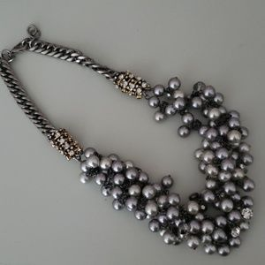 Chunky Pearl and Jewel Necklace